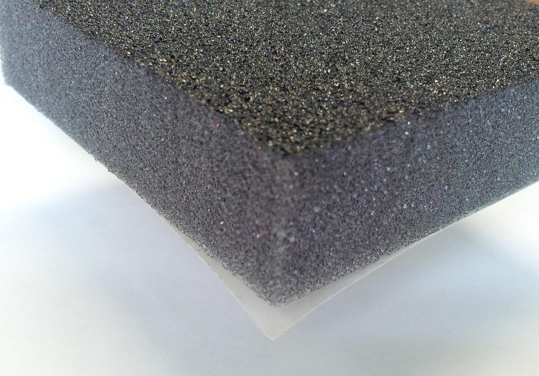 Black Urethane Face FatMat Hood-Liner 34 x 54 x 3//4 Thick Self-Adhesive Automotive Sound Deadening Hood Liner