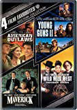4 Film Favorites: Western Collection (American Outlaws / Young Guns II / Maverick / Wild Wild West)