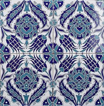 Timur Piastrelle da parete turche colorate, 1 confezione (4 ...