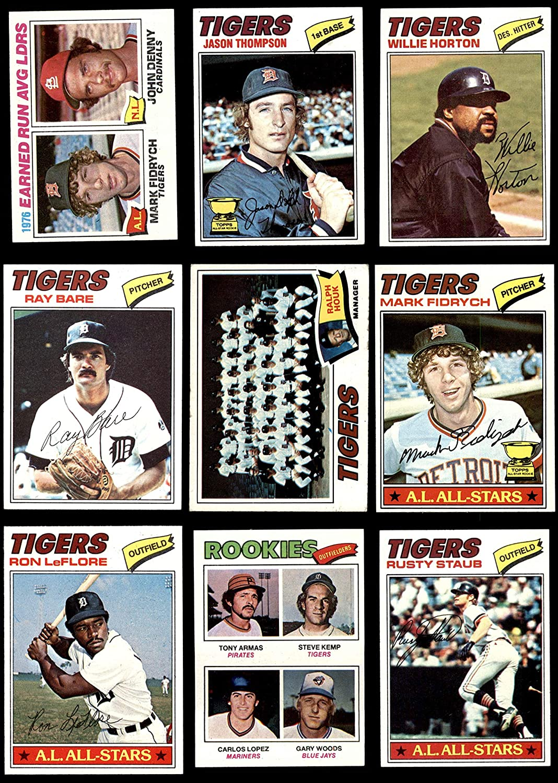 1977 Topps Detroit Tigers Team Set Detroit Tigers (Baseball Set) Dean's Cards 6 - EX/MT Tigers 91r5M7bGV8LSL1500_