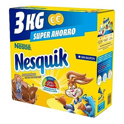 Nestlé Nesquik Cacao Soluble Instantáneo - Estuche 4x3kg: Amazon.es: Alimentación y bebidas