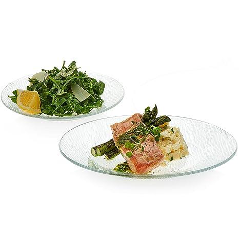 Libbey Yute Clear Glass Dinnerware Set 6- 10.6 inch diameter Glass Dinner Plates u0026  sc 1 st  Amazon.com & Amazon.com | Libbey Yute Clear Glass Dinnerware Set 6- 10.6 inch ...