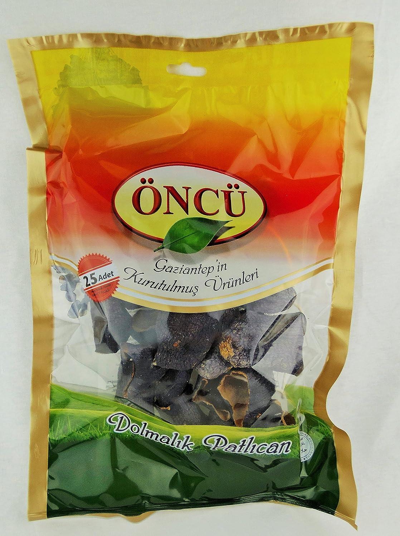 Oncu Dried Vegetable for Stuffing (Dreid Eggplant, Single Bag (25 Piece))