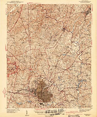 Amazon.com: 1943 Raleigh, NC | USGS Historical Topographic Map ...