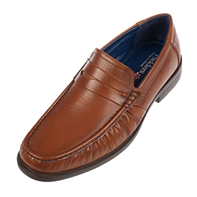 05c54447196c0 Padders Baron Mens Leather Wide (G Fit) Loafer Shoes Tan: Amazon.co ...
