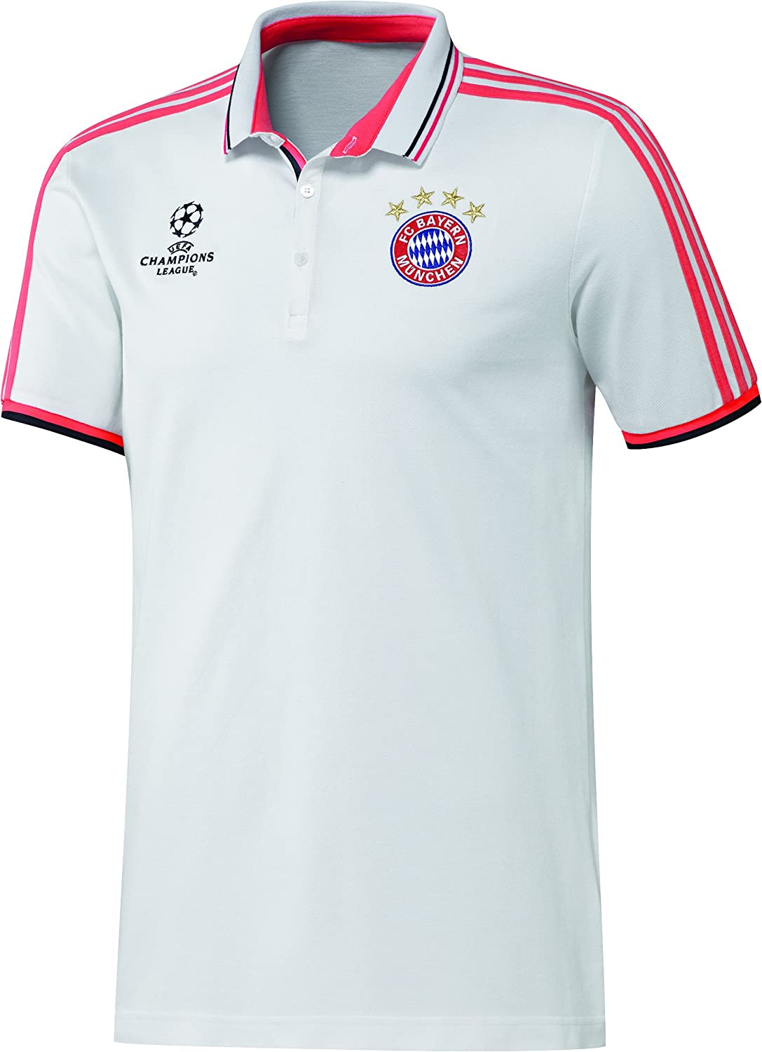 adidas Polo para Hombre de FC Bayer Blanco White/Flash Red S15 ...