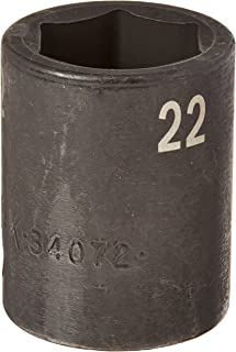 product image for SK Hand Tool 34072 1/2-Inch Drive Standard Impact Socket, 22mm