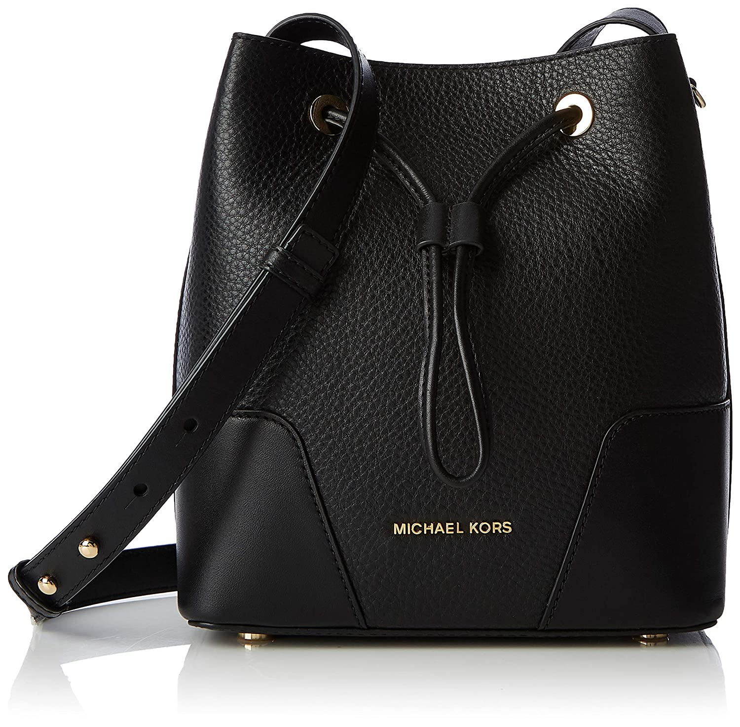 517341e096183a Michael Kors Cary Pebbled Leather Crossbody Bag- Black: Handbags: Amazon.com