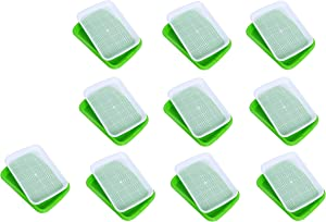 Dailydanny Seed Sprouter Tray, BPA Free Nursery Tray for Seedling Planting Great for for Garden Home Office (10)