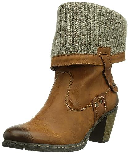 Rieker Z1571 Damen Halbschaft Stiefel  Amazon.de  Schuhe   Handtaschen 1c43a8c3d0