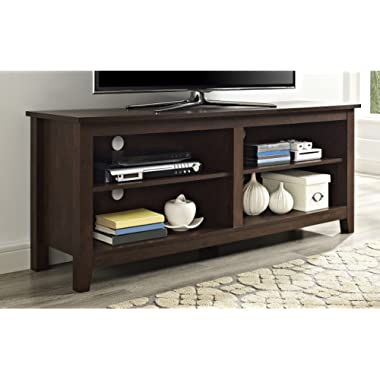 WE Furniture Minimal Farmhouse TV Stand for TV's up to 64 - Traditional Brown