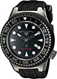 Swiss Legend Men's 21818D-GM-01-NB Neptune Black Dial Black Silicone Watch