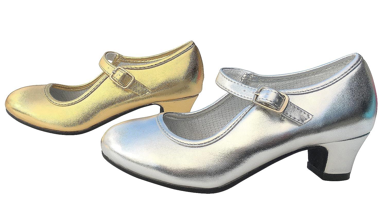 La Senorita Spanische Flamenco Schuhe Prinzessinnen Schuhe Gold Glamour