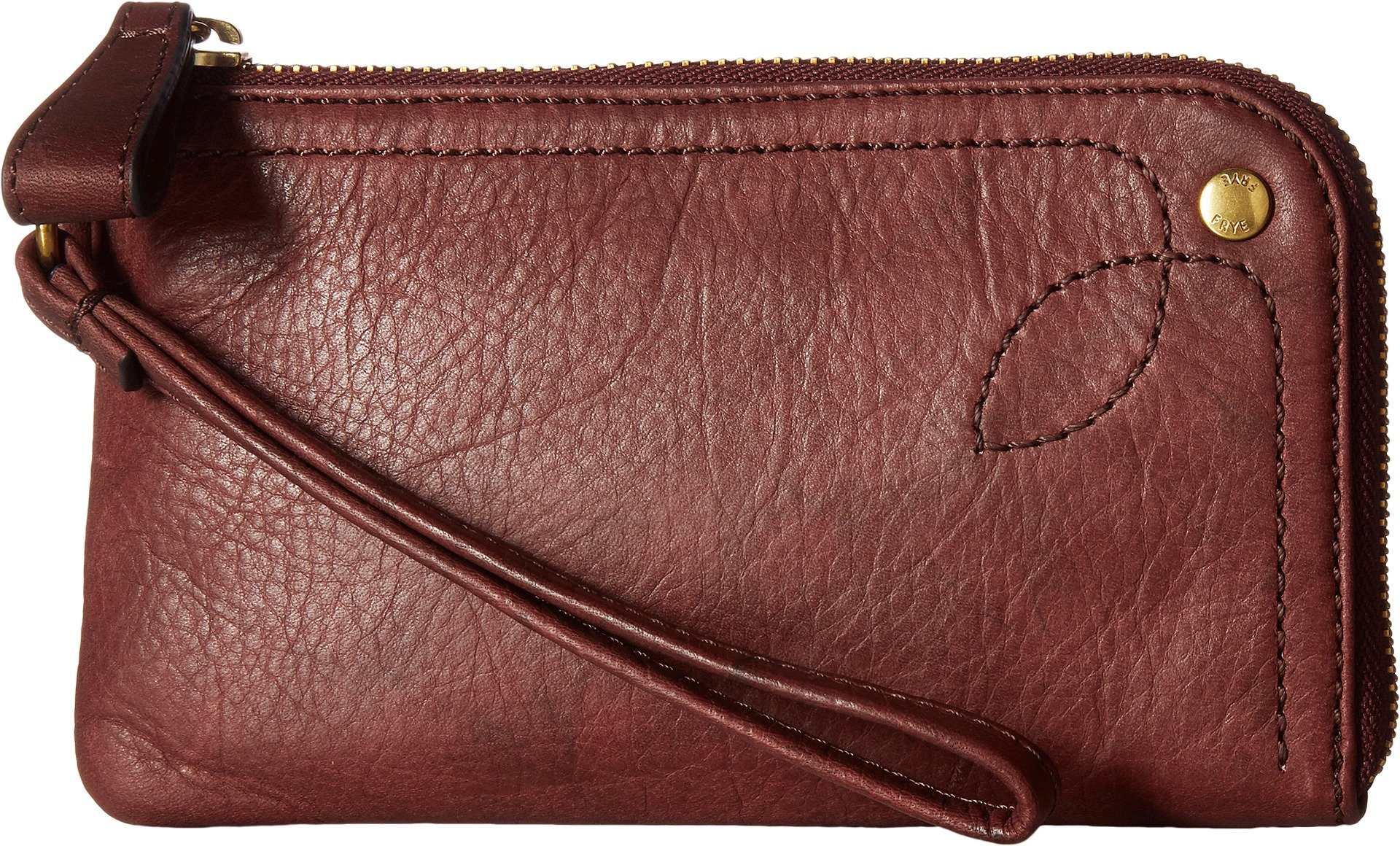 FRYE Campus Rivet Wristlet, Black Cherry