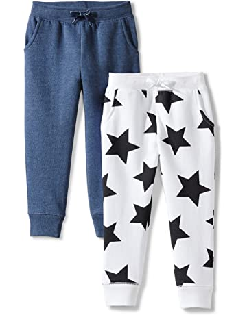 bf18465b8bbab Amazon Brand - Spotted Zebra Girls' Toddler & Kids 2-Pack Fleece Jogger  Pants