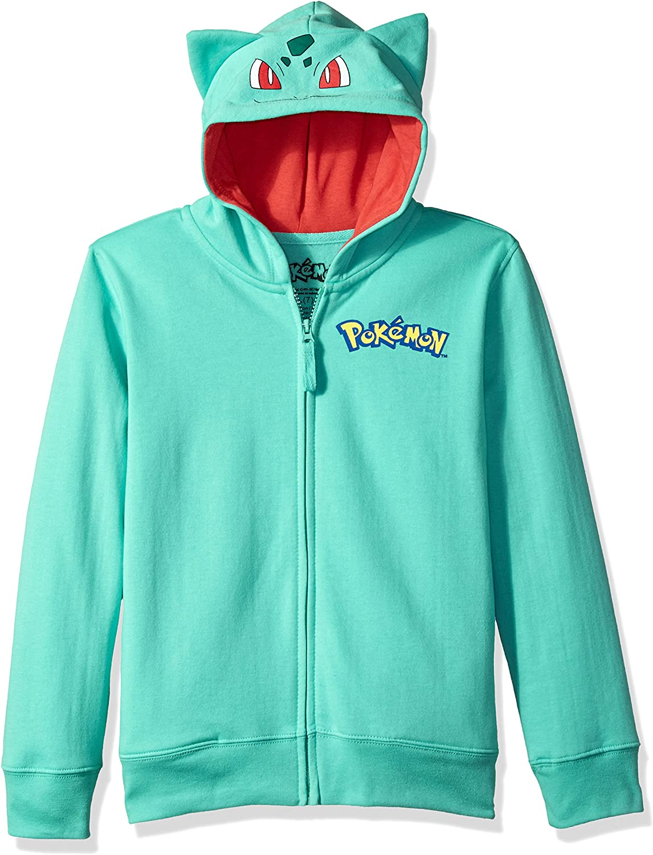Kids Boys Girls Pokemon Long Sleeve Hooded Sweatshirt Zipper Hoodies Coat Tops