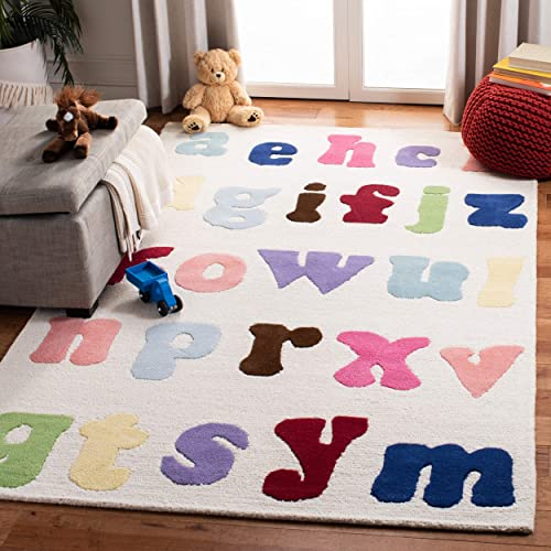 Safavieh Safavieh Kids Collection SFK389A Handmade Ivory and Multi Cotton Area Rug 6 x 9
