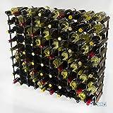 Bois classique 90 bouteille chêne teinté foncé et galvanisé l'auto-assemblage de support de vin en métal