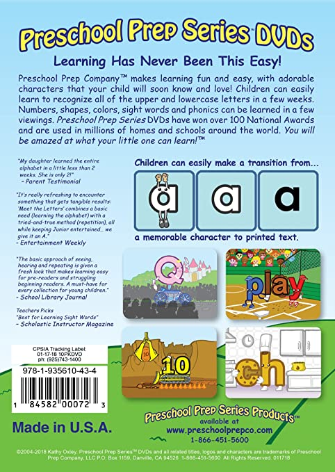 Amazoncom Preschool Prep Series Collection 10 Dvd Boxed Set