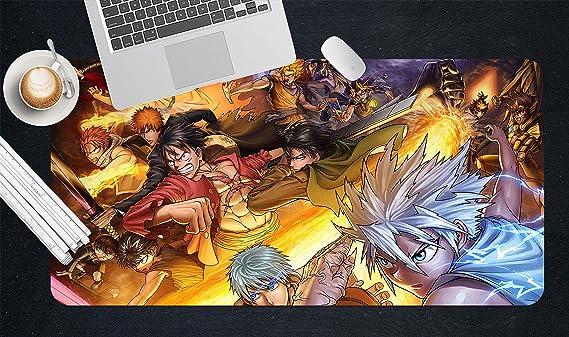 AJ WALLPAPER Juego de Mesa 3D de Anime de Japón para Luchar contra el Fuego 6518, Antideslizante, para Oficina, Escritorio, ratón, Alfombrilla Zoe B80cmxH40cm(21