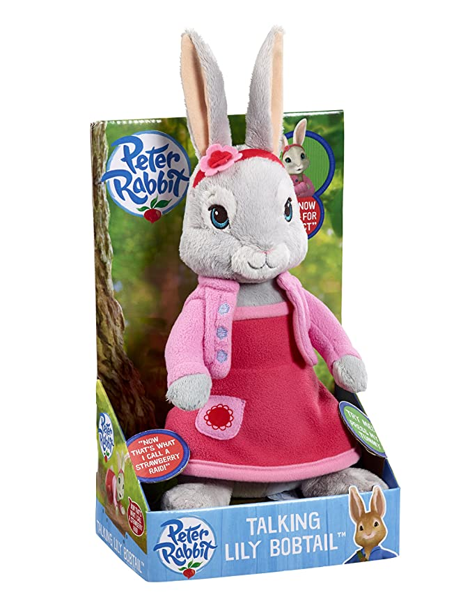 Amazon.com: Peter Rabbit And Friends - Lily Bobtail Talking Plush: Toys & Games