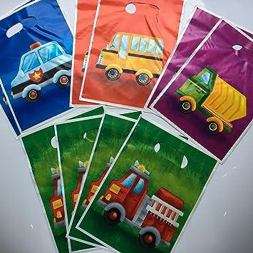 10 bolsas de fiesta * Vehículos * Cumpleaños para niños o ...