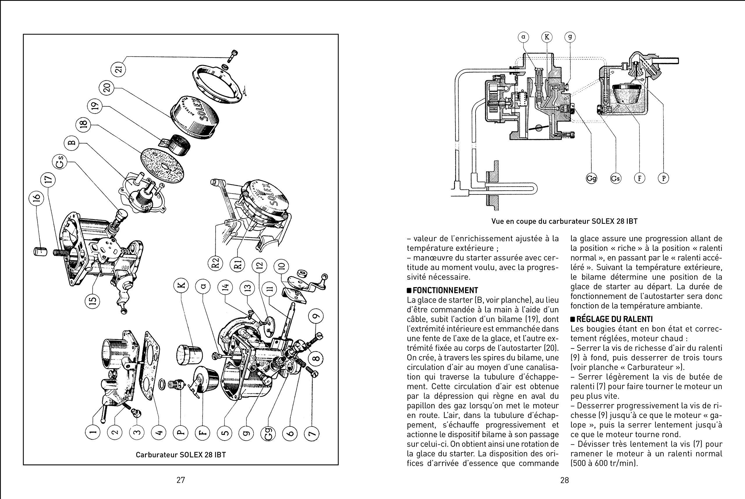 carburateur solex 28 ibt dauphine