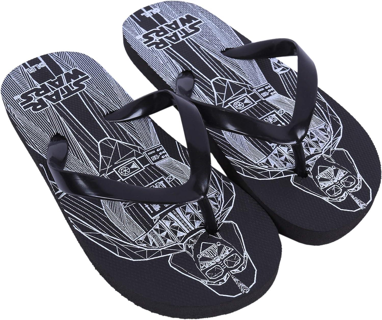 Star Wars : : Disney Tongs Noires pour gar/çons :