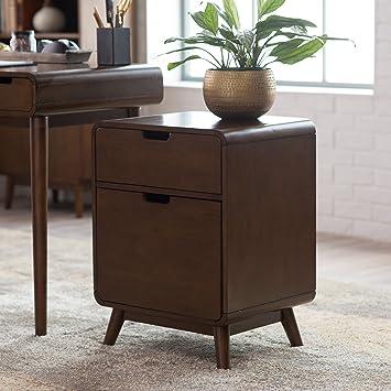 Amazon.com : Belham Living Carter Mid-Century Modern Two-Drawer ...