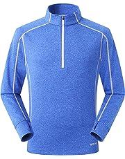 Eono Essentials Men's Lightweight High-Stretch Grid Fleece Top - Small