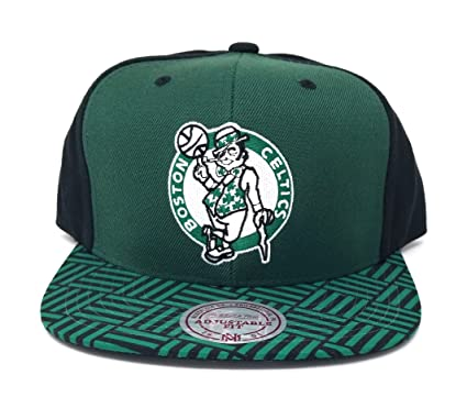the latest 36a55 9bb05 spain mitchell ness mens black green nba boston celtics snapback cap 9945b  93972