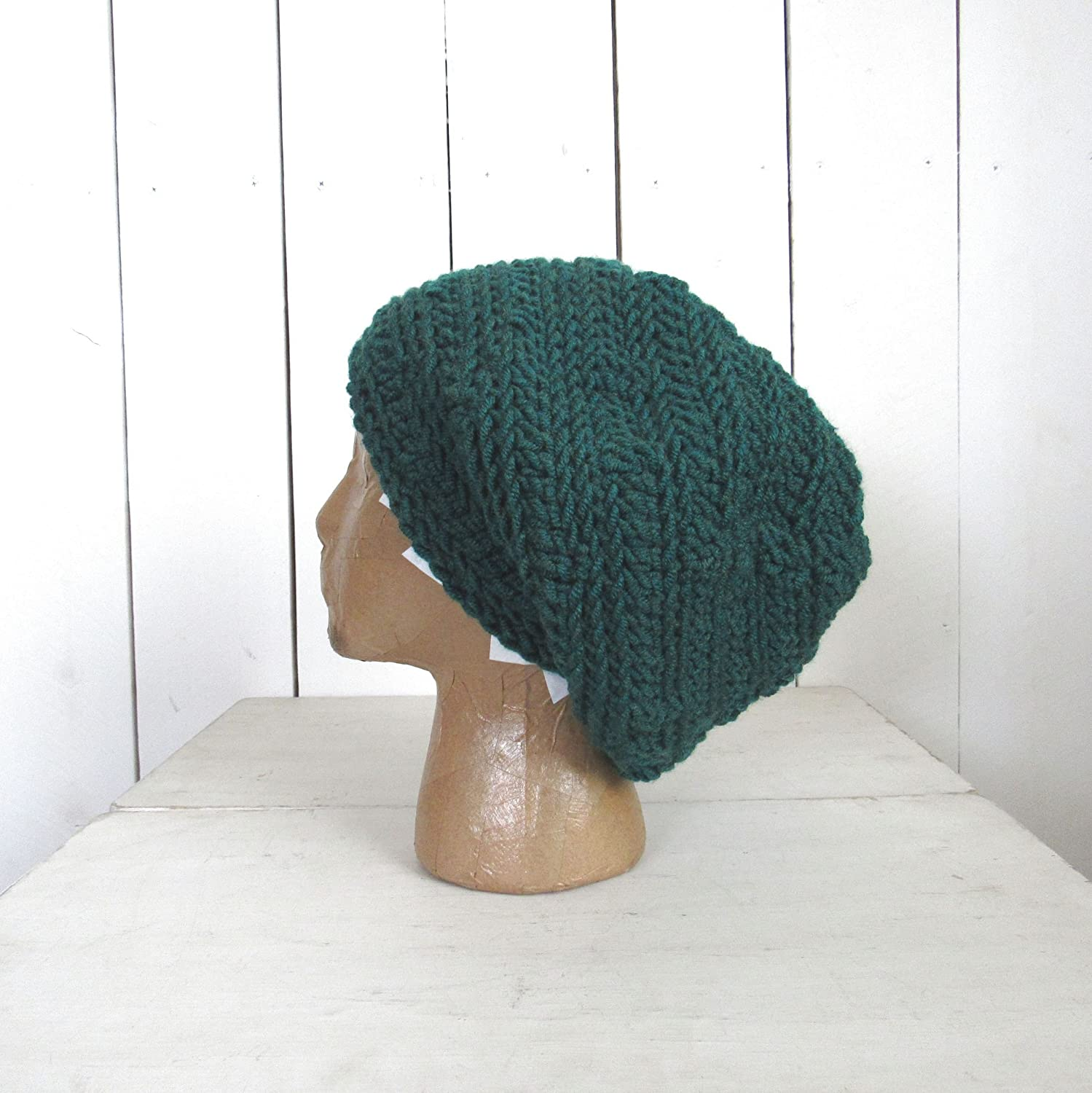 Hand Crochet Peacock Slouchy Snood Hat (More Colors Available) - DeluxeAdultCostumes.com