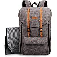 HapTim Travel Baby Diaper Bag Backpack, Large Capacity/Easy Organize/Comfortable/Fashion Cool Gift for Newborn Mother Father(Grey 5312)