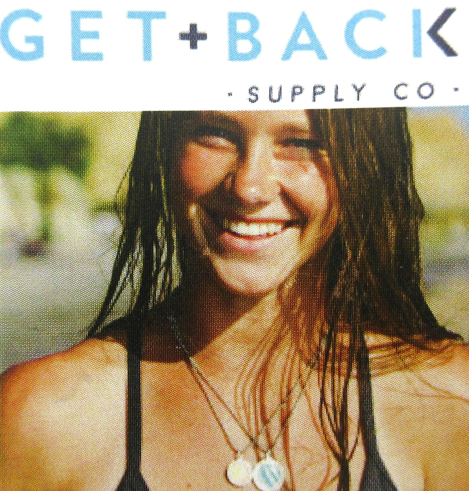 Get Back Supply Co Mini Saint Christopher Surf Medal Pendant Necklace,Pomegranate/White PG/WH by Get Back Supply Co (Image #3)
