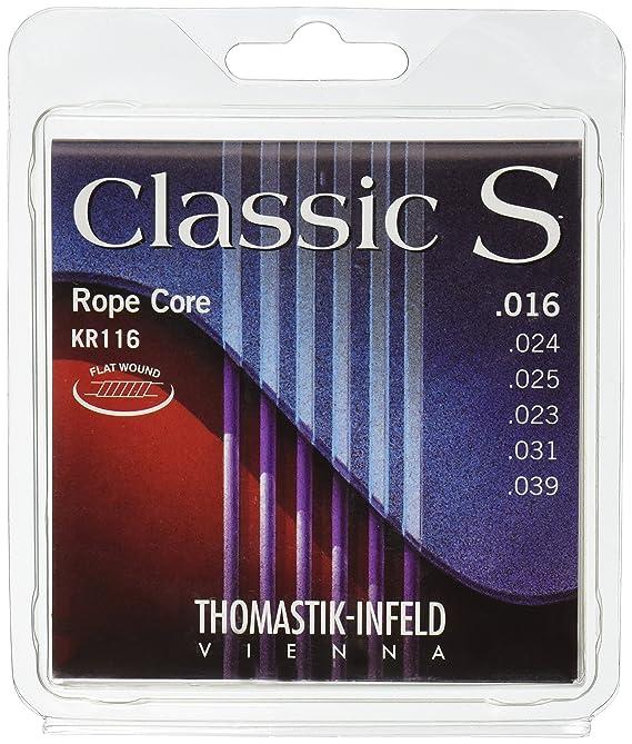 Thomastik Cuerdas para Guitarra Clásica Classic S Series juego Rope Core, cuerda de artista KR116: Amazon.es: Instrumentos musicales