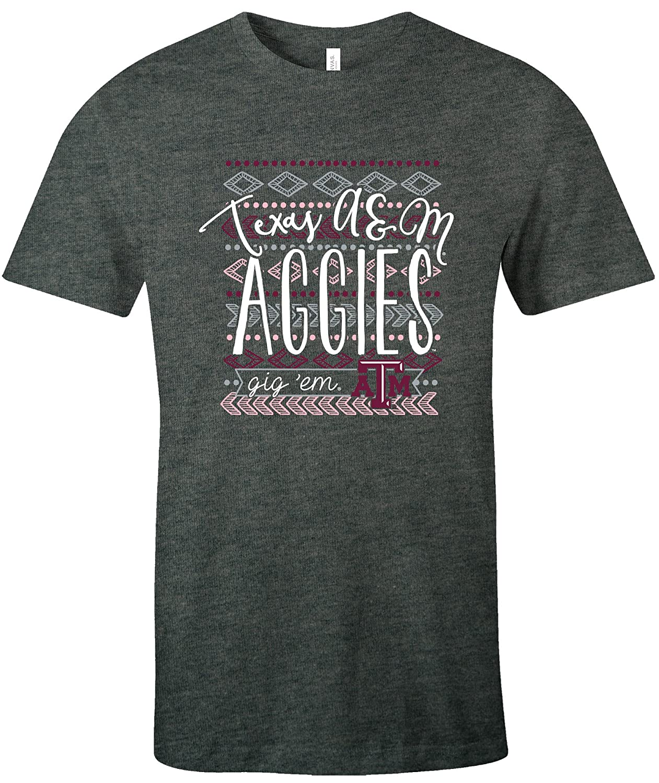 NCAA Texas A/&M Aggies Womens Pattern Lines Favorite Short sleeve T-Shirt X-Large,DeepHeather