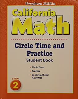 Houghton mifflin california math homework and problem solving book mathmatics circle time and practice book level 2 houghton mifflin mathmatics california hmm fandeluxe Image collections
