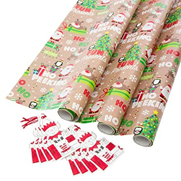Snowing 5m Roll of Childrens Christmas Wrapping Paper