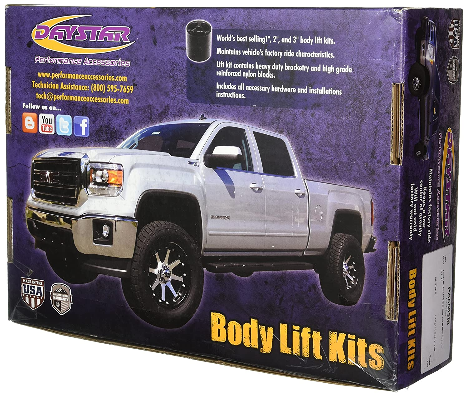 Toyota Pickup 4WD Std//Ext Cab 3 Body Lift Kit PA5503M Performance Accessories #9628 Req For Auto Trans 3 Body Lift Kit Made in America Toyota Pickup 4WD Std//Ext Cab #9628 Req For Auto Trans fits 1989 to 1995