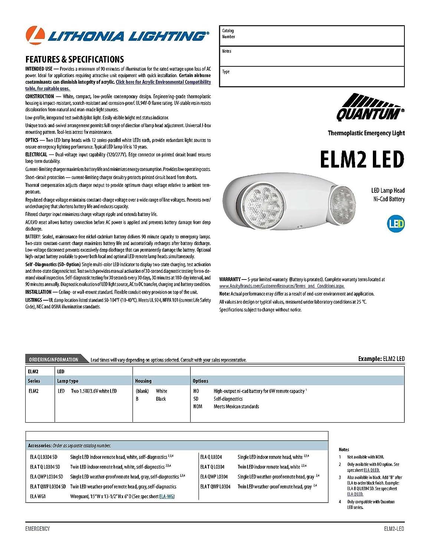 Lithonia Elm2 Wiring Diagram Libraries Led Diagrams Schemaamazon Com Lighting Sd M12 Quantum 2