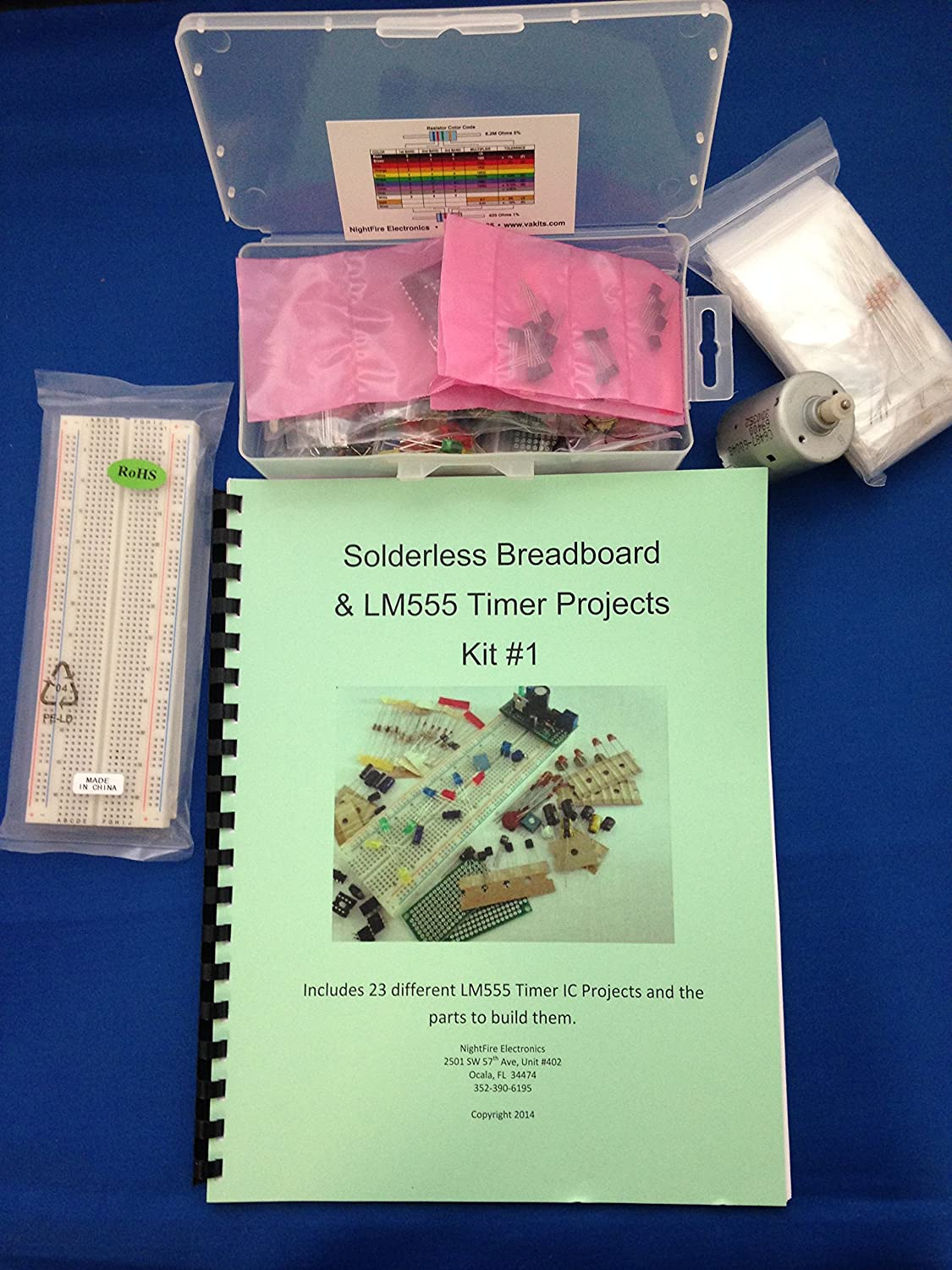 Lm555 Timer Ic Projects Kit 1 With Solderless From Snap Circuits Micro Courtesy Elenco Electronics Inc Breadboard Toys Games