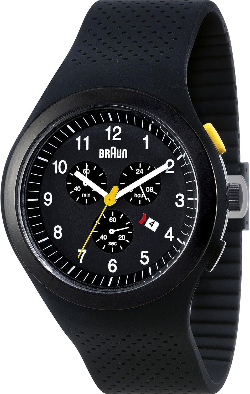 Braun Men s BN0115WHBKBKG Sport Chronograph Analog Display Quartz Black Watch