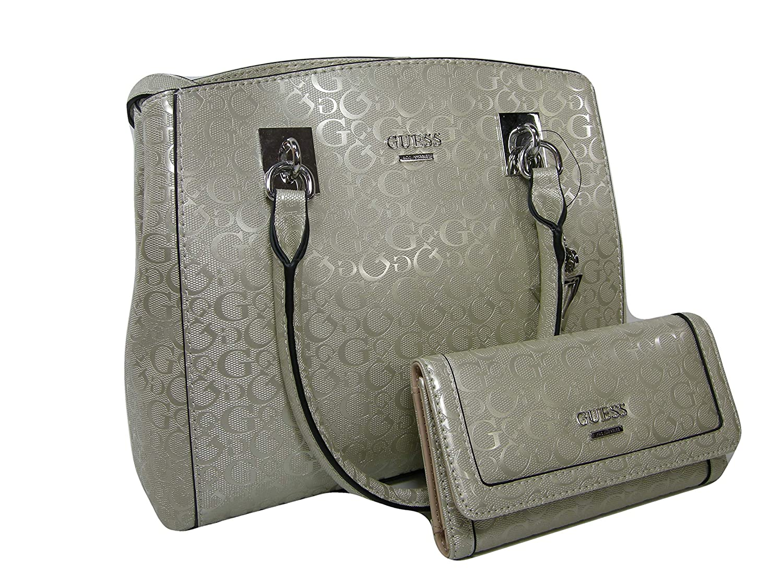 f2949b101 Amazon.com: New Guess G Logo Purse Satchel Hand Bag Crossbody & Wallet Set  2 Piece Champagne: Shoes