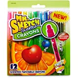 Mr. Sketch Scented Twistable Crayons, Assorted Colors, 12-Count