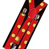 papapanda Braces Suspenders and Tattoo Set for Juzo Suzuya Tokyo Ghoul Juuzou Costume Halloween Carnival Points red Yellow