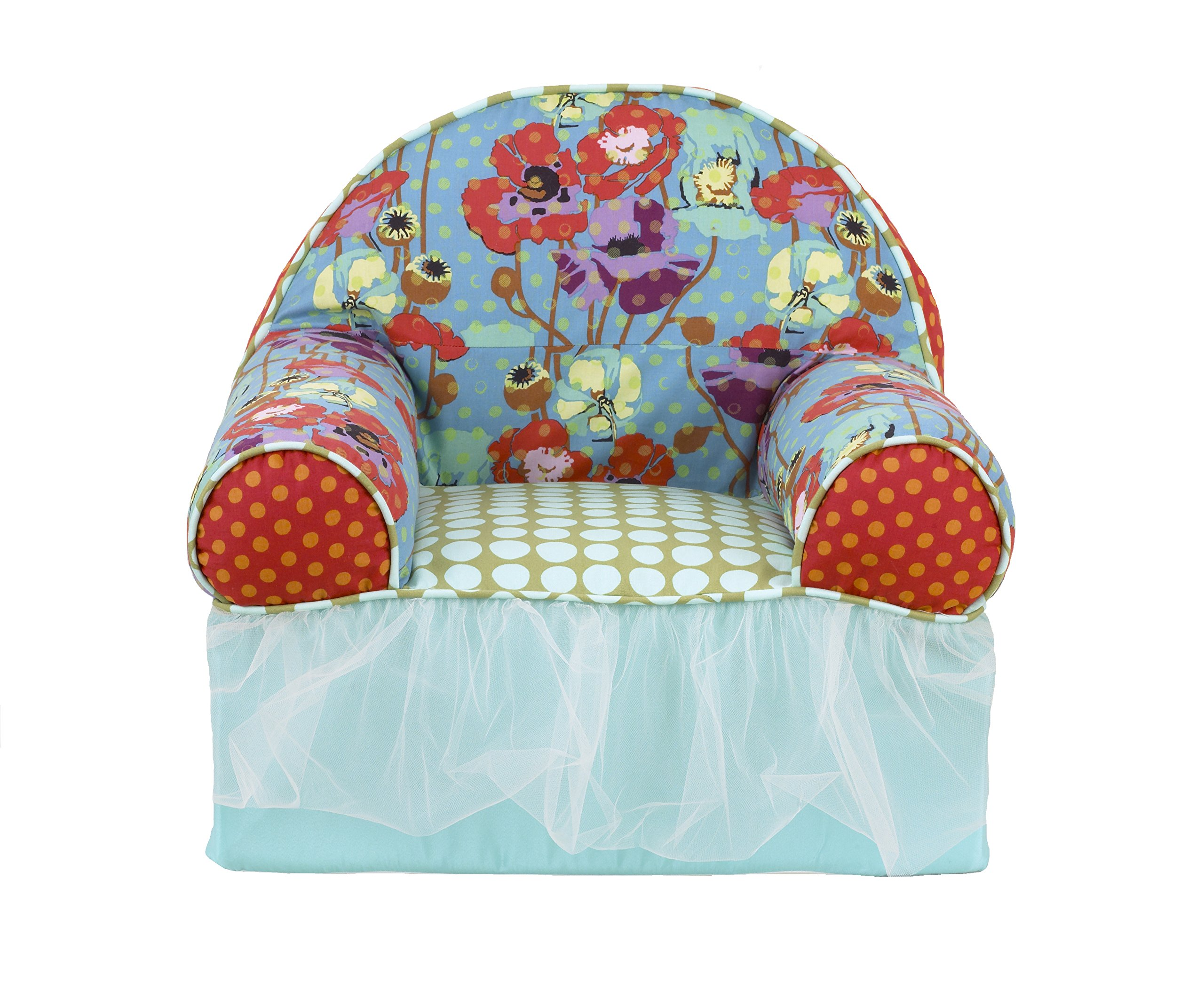 Cotton Tale Designs Lagoon Baby's 1st Chair, Turquoise/Purple/Orange/Green