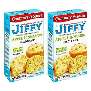Jiffy Apple Cinnamon Muffin Mix (Pack of 2)