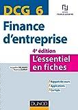 DCG 6 - Finance d'entreprise - 4e édition: L'essentiel en fiches
