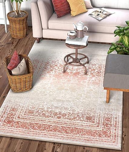 Well Woven Celine Copper Rust Persian Vintage Medallion Area Rug 8×11 7 10 x 10 6 Modern Oriental Plush Super Soft Carpet
