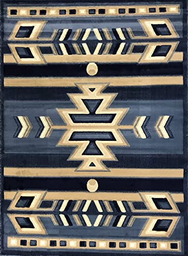 Safavieh Dhurries Collection DHU205A Hand Woven Ivory and Black Premium Wool Area Rug 5 x 8